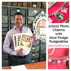 Video: How to make Photo Charms with School Photos and Mod Podge.