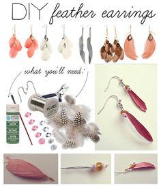 DIY: Feather Earrings | COUTUREcolorado LIFE & STYLE {blog + resource guide inspiring the modern colorado woman}