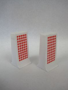 Retro Red Gingham Salt and Pepper Shakers