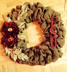 burlap wreaths, wreath idea
