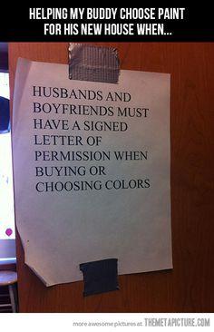 Paint store warning…
