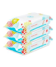 Another great find on #zulily! Biodegradable Cloth Wipes - Set of Three by The Honest Company #zulilyfinds