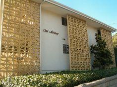 Modern mid century decorative concrete blocks