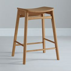 Classic retro stool, oak