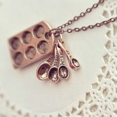 Cute Gift: little baker necklace in antiqued copper.  I must get this!!