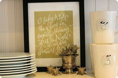 Oh Holy Night print - love!