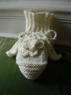 hand knitted elegant women slippers or socks in by lamamadesmatous, $50.00
