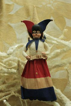 COTTON ORNAMENT PATRIOTIC GIRL JESTER TREE TOPPER by JERRY ARNOLD, 2010 | eBay