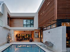 Exterior aspect of the Caruth Boulevard Residence in Dallas, Texas USA by Tom Reisenbichler