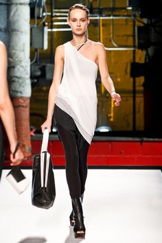 blusa asimetrica fashion, style, helmutlang, springsumm 2012, helmut lang, lang spring, wear springsumm, spring 2012, 2012 rtw