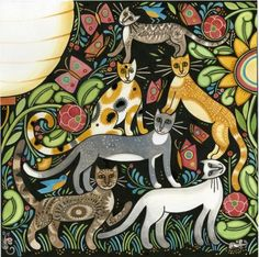 Acrobaticats from Catkin, by Julie Paschkis for In The Beginning Fabrics