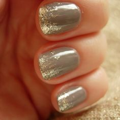 sparkly ombre nails.