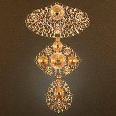 18th Century filigree gold cross pendant table cut diamonds from adin on Ruby Lane