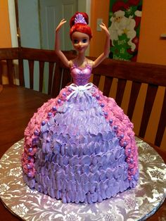 Ariel doll cake (my first doll cake)