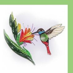 quill card, hum bird, quill hummingbird, quillingpap craft, quill bird, quilling patterns, quill board, paper quilling, hummingbirds