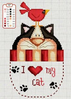 Cat cross stitch
