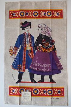 FOLK COSTUMES - SILHOUETTES - Polish linen