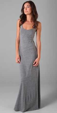 maxi dress -- love gray, love maxi dresses...that makes this just about perfect!  my favorite maxi dresses in my closet are my gray ones...seeing a definite pattern here :)