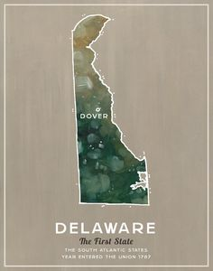 Delaware State  Illustrated States of America by wellsillustration, $16.00