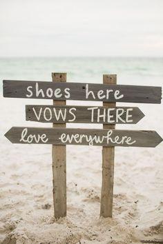Love everywhere. #beachwedding