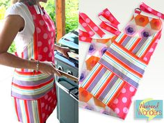 Weekend Wonders with Fabric.com: Reversible Summer Apron | Sew4Home