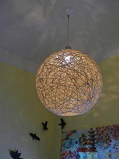 Light fixture with hemp