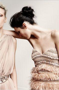 fashion, party dresses, nude, bead, blush weddings