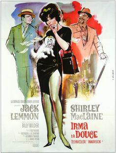 Irma la douce film, la douc, billi wilder, movi poster, cine, shirley maclain, irma la, 1963, posters
