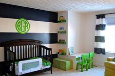 Toddler Room- navy & green