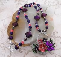 """Basket of Flowers"" Necklace, Bracelet & Earrings"