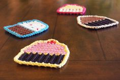 Crocheted Cupcake Coasters free pattern, thanks so xox