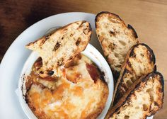 Melted Cheese and Chorizo with Grilled Bread - Bon Appétit