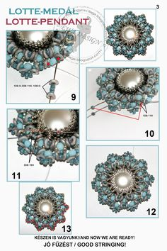 Ewa beaded World: Lotte pattern pendant / pendant Lotte pattern