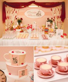 Vintage Mad Hatter Tea Party {Pink & Red}