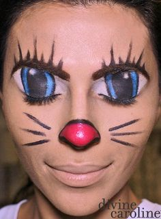 [  http://www.pinterest.com/toddrsmith/boo-who-adult-halloween-ideas/  ]  - Halloween Makeup How-To: Illusion Cartoon Cat Face
