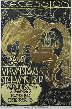 Secession poster (1899) by Koloman Moser