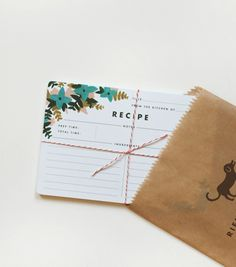 rifle paper co. recipe cards + russell & hazel mini binder