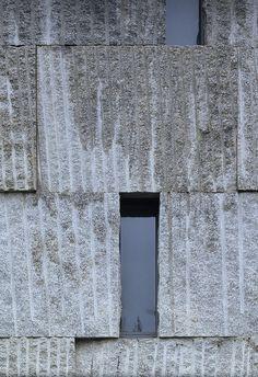musicstudiescenter08 by ensamblestudio, via Flickr music, detail, materia, architectur privat, texture, concrete facade, gray textur, garagist