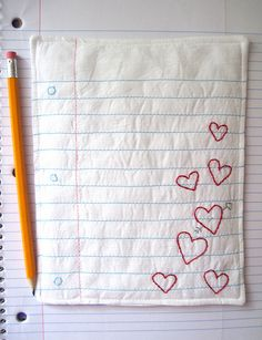Omgoodness... embroider your kids paper, or a fun poem, your bucket list, a love letter!!!!
