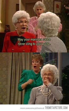 Oh, no she just didn't…LOL I love Golden Girls!!