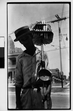 """El Pirulero"" - Candy Vendor, Havana  Walker Evans  1933"