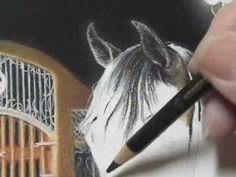 "Pastel Painting Demonstration - Arabian horse by Roberta ""Roby"" Baer PSA pastel paintings, pastel art, arabian horses"