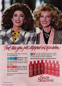 Salon Selectives..for the huge hair of the '80s...1988