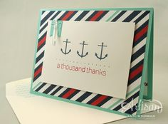 """""""I love how cute but simple this card is using the Sea Street stamp set"""" -Kaitlyn Zumbach"""