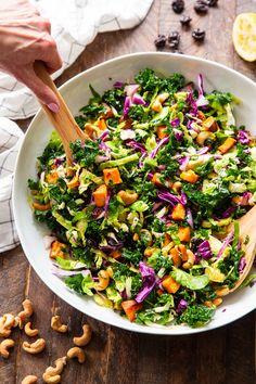Rainbow Veggie Salad with Lemon Vinaigrette {Paleo, Whole30, Vegan}