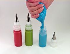 How to fill icing bottles without a mess!