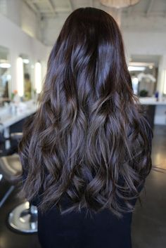 LOVE this dark brunette hair color! Schedule with one of the stylists at Salons at Stone Gate in Cypress/NW Houston ~ (281) 256-2204 ~www.salonsatstonegate.com #brunette #Houston #haircolor