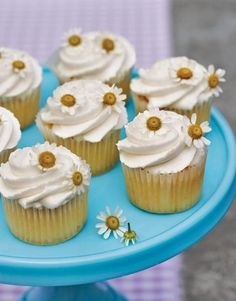 Freshen up cupcakes with edible flowers like chamomile, violets, nasturtiums, and scented geraniums.