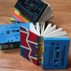 Cassettes as book covers! LOVE IT!
