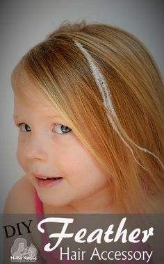 DIY Feather Hair Accessory Tutorial #kids #hairstyles #feathers